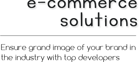 ecommerce services and solution